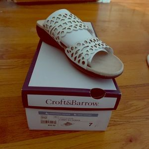 NIB Croft & Barrow Lattice Sandals